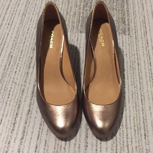 Coach Rose Gold Heels